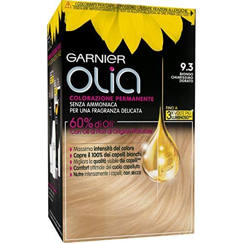 Haarfärbemittel permanente ohne Ammoniak Olia sehr hell goldblond N.9,3