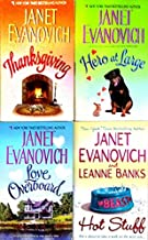 Janet Evanovich (4 Book Set) Thanksgiving, Hero at Large, Love Overboard, & Hot Stuff