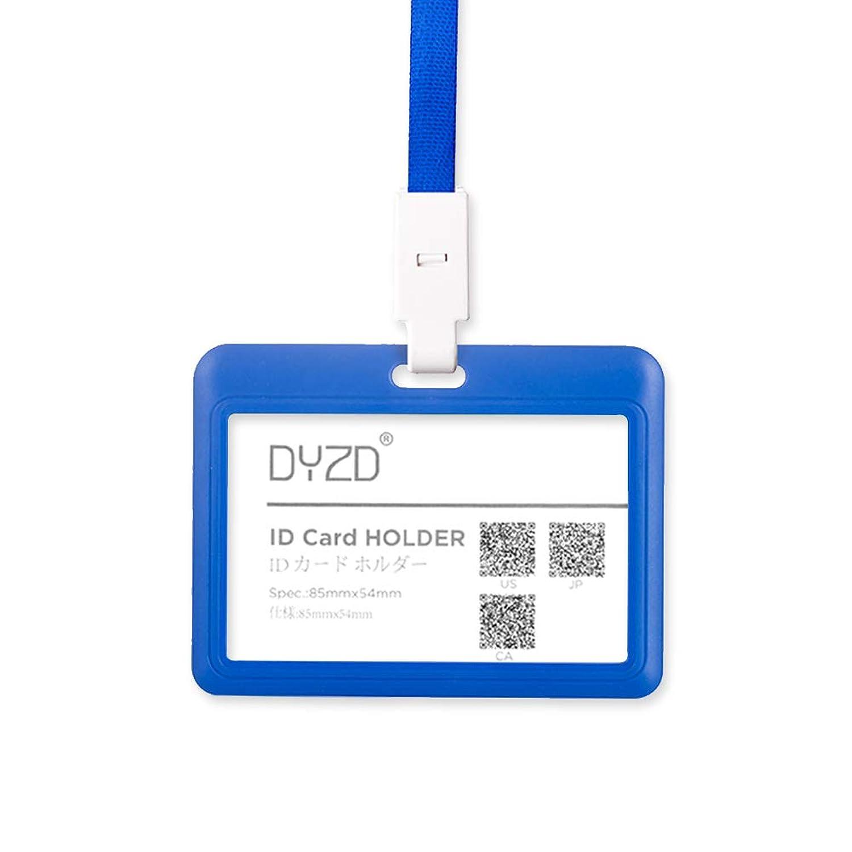 DYZD 横型 idカードケース 磁気不良防止 メンズ レディース ダークブルー 2個入り