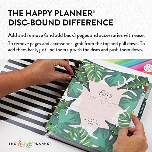 me & my BIG ideas 6 Month Calendar Extension - The Happy Planner Scrapbooking Supplies - 6 Pre-Punched Dividers - Undated Monthly & Weekly - 2 Sticker Sheets with Months and Numbers - Big Size