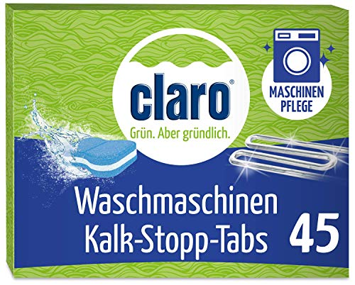claro Descaler Washing Machine Cleaning Tabs | Removes Lime with Quick Release Formula | Vegan Product