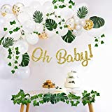 Sweet Baby Company Greenery Boho Baby Shower Decorations Neutral with Balloon Garland Arch