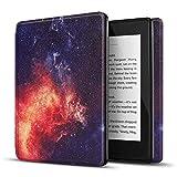 TNP - Funda para Kindle Paperwhite de 10ª generación, versión 2018, diseño delgado y ligero con función de encendido automático compatible con Amazon Kindle Paperwhite versión 2019 2020 (Galaxy)