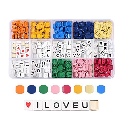 ILOVEU - Juego de 300 cuentas de abejas, esmaltadas en forma de panal, para hacer joyas de estilo bohemio, bloques de color, para pulseras