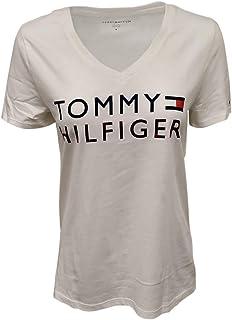 Tommy Hilfiger V-Neck Graphic Logo T-Shirt