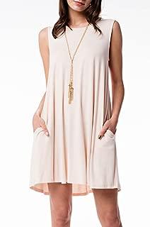 Mitto Shop Bamboo Fiber Knit Sleeveless T-Shirt Dress