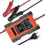 LVYE1 MRMF Cargador Baterias Coches con Pantalla LCD, 12V/24V Full Automático Inteligente Mantenimiento De Batería Múltiples Proteccion para Automóvile para De Baterías De Litio Piombo Ácido