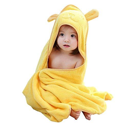 Toallas amarillas de bebé de alta calidad con capucha