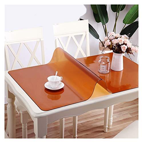 LINMAN Manteles Negros Manteles Transparente Tabla Impermeable Tabla de Cocina Cubierta de protección de Aceite a Prueba de Aceite Vidrio Tela Suave de Tela (Color : Orange, tamaño : 70x210cm)
