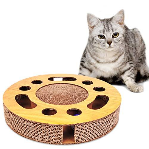 PT-KMKMING Haustier-Katzen-Grabscher, Wechselwirkender Katzenminzenspielzeug-Kätzchen-anziehender Kricketball