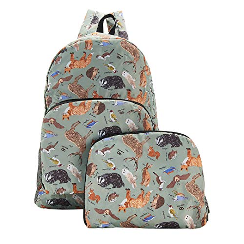 Eco Chic Lightweight Foldable Backpack (Woodland Olive)