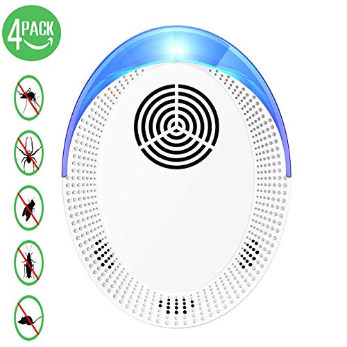 Ultraschall-Entwurmung-insektenabweisende insektenabweisende elektronische tragbare Haustier-Sicherheitsvorrichtung-Entfernen von Flhen, Kfern, Moskitos, Musen, Insekten, Ameisen (4 Packungen)