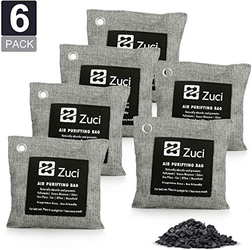 %21 OFF! Pk 6 x 200 Grams, Bamboo Charcoal Air Freshener Bags, Naturally Activated Charcoal Bags, Odor Absorber, Car, Pets, Closet, Basement & Litter, Car Air Freshener