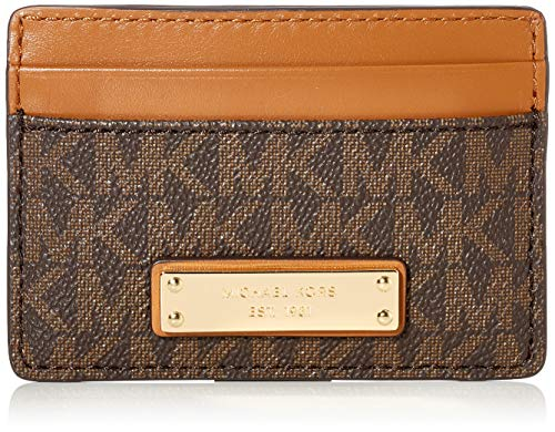 Michael Kors Womens Jet Set Card Holder, Brown, S