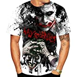 SLTX Men's 3D Printed Short Sleeve Fashion Joker T Shirt,Suicide Squad,23 Styles,M-3XL (01.The Joker(WHY SO SERIOUS), l)
