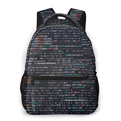Laptop Rucksack Schulrucksack Screenshot Zufälliges Teileprogramm, 14 Zoll Reise Daypack Wasserdicht für Arbeit Business Schule Männer Frauen