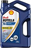Shell Rotella T6 Full Synthetic 15W-40 Diesel Engine Oil (1-Gallon, Single Pack)