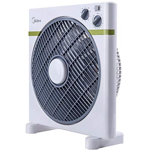 Ventilador eléctrico Cuadrado 12 Pulgadas de Escritorio Hogar Silencio Ventilador mecánico de...