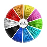 3D Pen refills, 1.75mm PLA pack (10 solid colors, 16 feet each color) total 160 feet, Non-toxic and...