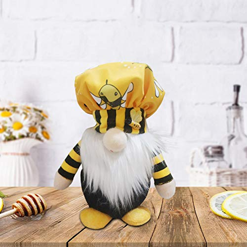 Turkey Christmas Bumble Bee Striped Gnome Doll Decorations Cute Bumble Bee Striped Gnome Scandinavian Dwarf Plush Toy Mother's Gift