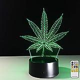 Fernbedienung Ahornblatt visuelle Folie transparent acryl nachtlicht Lampe Farbwechsel Touch tischlampe Lava Lampe