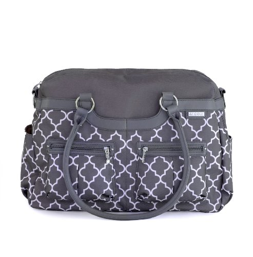 JJ Cole Satchel Diaper Bag, in Stone Arbor Product Image