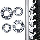 PopHMN Sillas de Tumbona Cuerda, 4PCS Silla Plegable Cuerda elástica Cuerda Silla de jardín Cordones de reparación Reclinables al Aire Libre Cuerda (Gris)