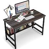 Embrace life 平机 机 デスク シンプルワークデスク パソコンテーブル オフィスデスク 組立簡単一人暮らし 幅80cm×奥行45cm ×74cm 勉強机 ブラウン色