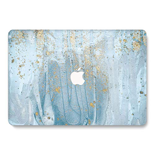 UZAHSK Mac-Book Air 13 Inch case (2020 & 2019 & 2018 Release) A2337M1/A2179 / A1932 Plastic Hard Shell Cover Only Compatible With Mac-Book Air 13 inch with Touch ID. (Marble-255)