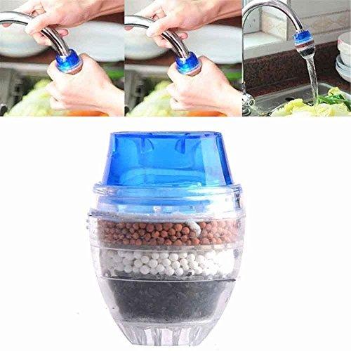 OUNONA Mini Filtre à Eau de Robinet Purificateur d'eau de Robinet pour Robinet Rond de diamètre 1,6 à 1,9 cm(Couleur aléatoire)