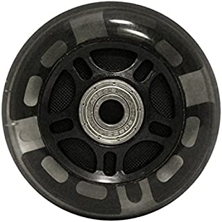 choice 82A Light Up LED Inline Wheels with ABEC 9 Bearings (8 Pack), 76mm, Black