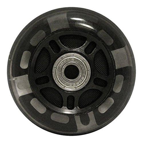 KSS 82A Skate Ripstik Light Up LED Inline Wheels with Bearings (2 Pack), 76mm, Black
