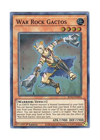 遊戯王 英語版 BLVO-EN094 War Rock Gactos (スーパーレア) 1st Edition