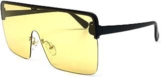 07d55f8c70 CCGSDJ Gafas De Sol Semi-Sin Montura De Gran Tamaño Mujeres Hombres  Futurista Big Goggle