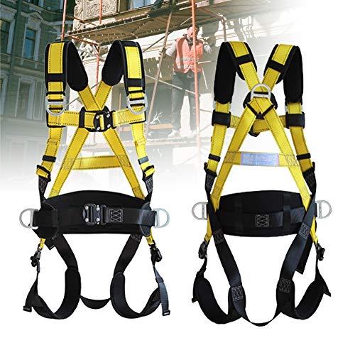 ZPCSAWA Arnés de Escalada Kit, 5-Puntos Cinturones de Seguridad para Montañismo de Alto Nivel Espeleología de Rescate Recordatorio de Escalada Equipar