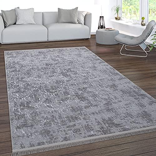 Paco Home Teppich Wohnzimmer Kurzflor Waschbar 3D Effekt Modernes Orientalisches Muster, Grösse:120x180 cm, Farbe:Anthrazit