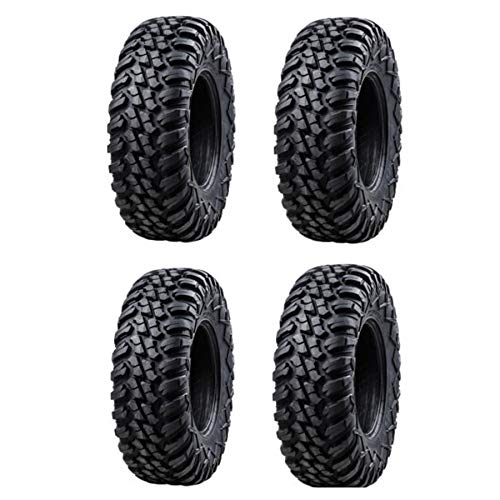 Bundle - Four Tusk TERRABITE Heavy Duty 8-Ply DOT Radial UTV/ATV Tires - 32x10-14