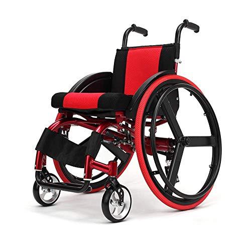 Light Elderly Disabled Rolstoel Medisch Ergonomisch Ultralight Handleiding Ouderen Rolstoel 38Cm Stoel Breedte-Detachable-Vrije Sport (Rood), Y-L