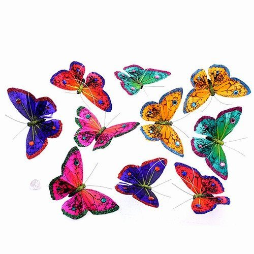 World Buyers Winter Royals Glitter with Jewels Butterfly Garland 4.5x78 H