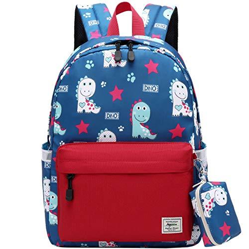 Kinderrucksack Jungen, Mygreen Schultasche Kleinen Schulranzen Jungen Buch Rucksack Rucksack für Kinder Rucksack mit Brustgurt Rot