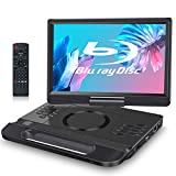 FANGOR 12 Inch Portable Blu Ray DVD Player with HDMI In/Output Built-in Rechargeable