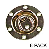 Rotating/Recessed D-ring 3,500 lb. Capacity Tiedowns Gold 6 Pack