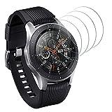 DASFOND Panzerglas Schutzfolie für Samsung Galaxy Watch 46mm / Samsung Gear S3 Frontier & Gear S3 Classic Bildschirmschutzfolie,9H Festigkeit Panzerglasfolie, Ultra-klar, Voller Schutz, Anti-Bläschen