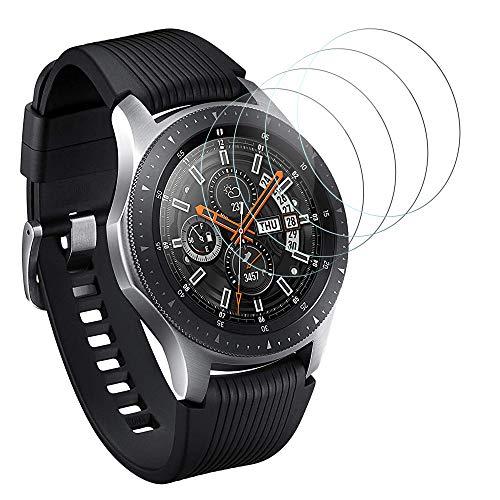 DASFOND Panzerglas Schutzfolie für Samsung Galaxy Watch 46mm / Samsung Gear S3 Frontier und Gear S3 Classic Displayschutzfolie,9H Härte Panzerglasfolie, Ultra-klar, Voller Schutz, Anti-Bläschen