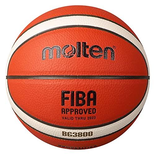 MOLTEN B5G3800 - Balón de Baloncesto, Naranja/Marfil, 5