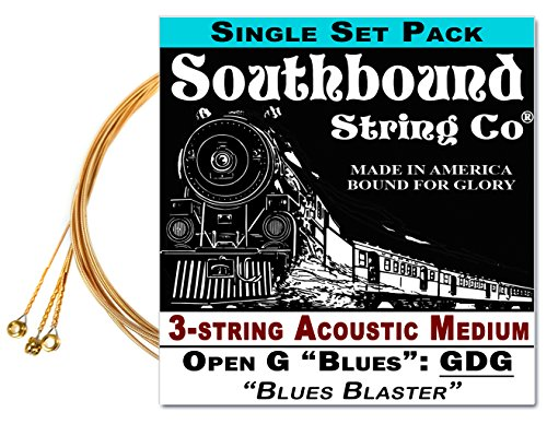 Acoustic Medium 3-String Cigar Box Guitar Strings - Low Open G