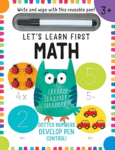 Let's Learn: First Math Skills: (Early Math Skills, Number Writing Workbook, Addition and Subtraction, Kids' Counting Books, Pen Control, Write and Wipe)