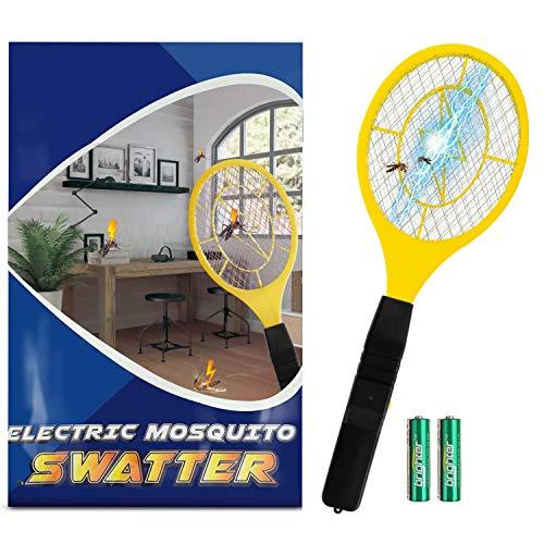 Zenoplige Elektrische Fliegenklatsche, Insektenvernichter mit Herausnehmbaren Batterien Insekten Mörder Frei von Giftstoffen und Gerüchen Ideal für Drinnen und Draußen
