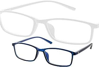 【my】ブルーライトカット pcメガネ パソコン スマホ 用 眼鏡 軽量 おしゃれ 男女兼用 (ブルー)