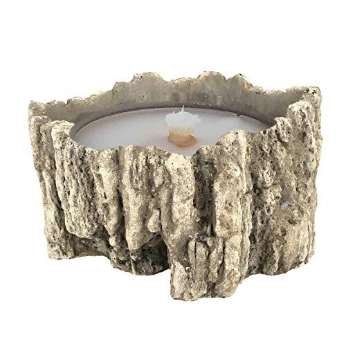 Der Perlenspieler® - XXL-Kerzenschmelzer-Baumstumpf-Design-Outdoor-10 mm Glasfaserdocht- ca.20 cm x ca. 12 cm
